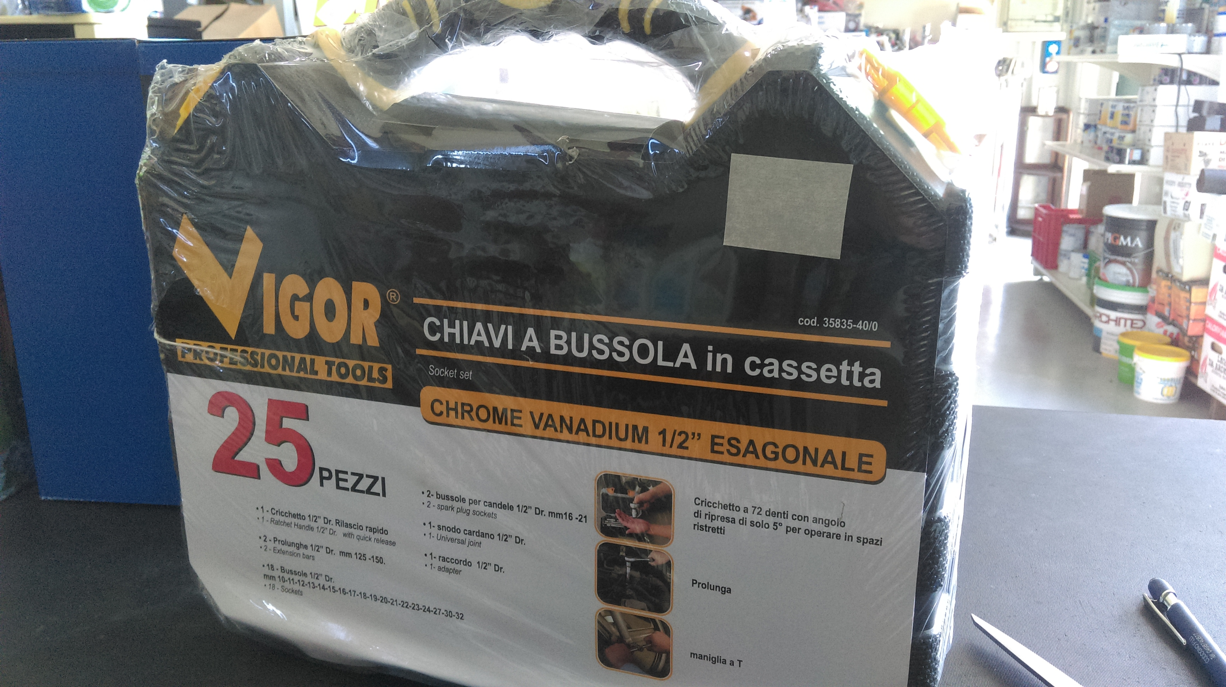 Cassetta Chiavi Bussola 25pz